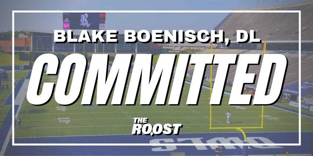 Rice Football, Rice football recruiting, Blake Boenisch