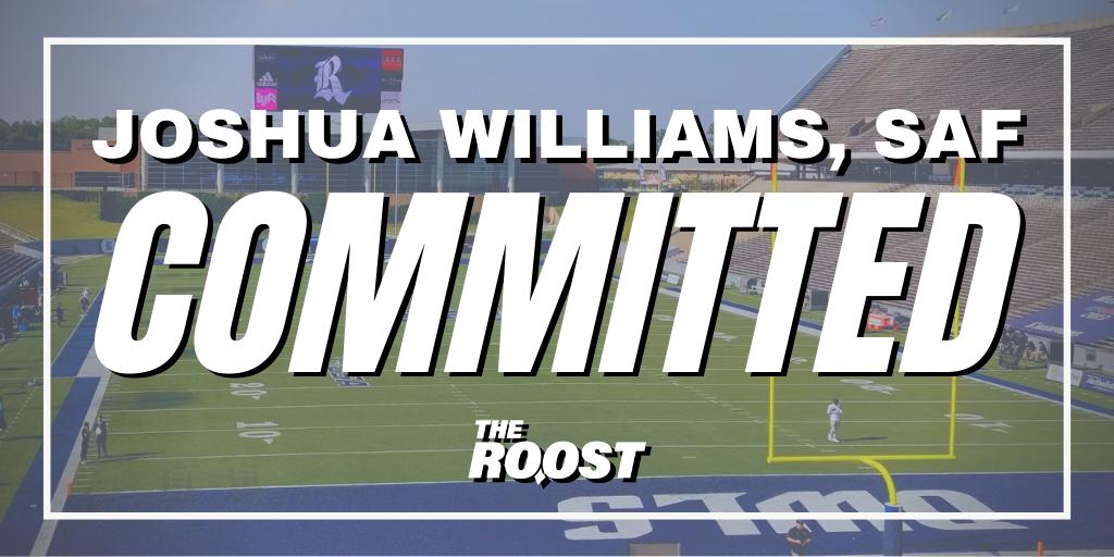 Rice Football Recruiting, Joshua Williams